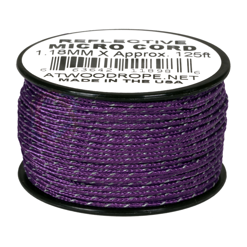 1.18mm Micro Cord Reflective - Purple