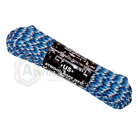 550 x 25ft / 50ft / 100ft Paracord Reflective Blue Snake