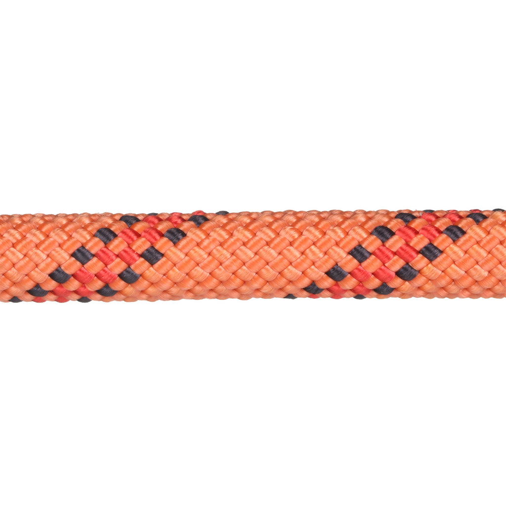 3/8 Tangerine w/ Red & Black Tracer Rope Leash