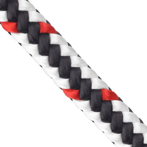 5/8 x 150ft Arborist Tree Line - White Black & Red