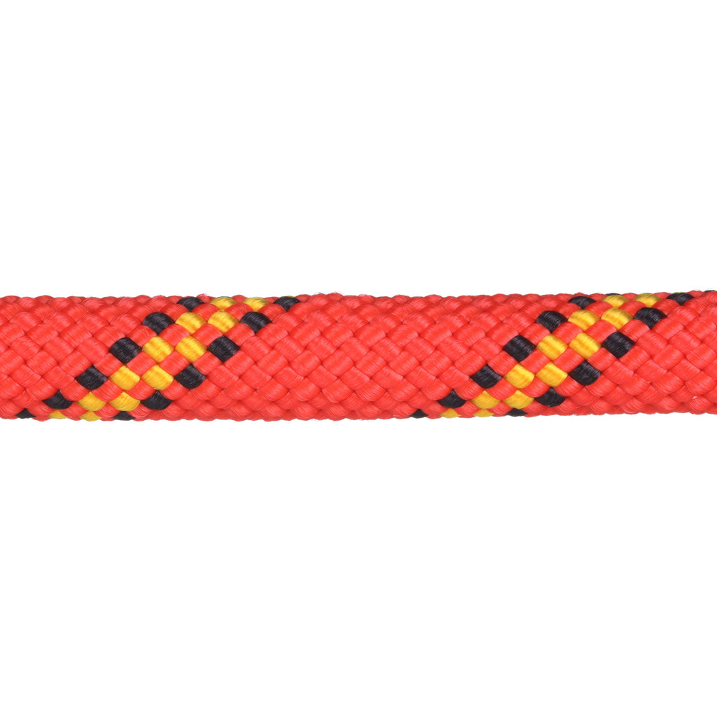 3/8 Red w/ Yellow & Black Tracer Rope Leash