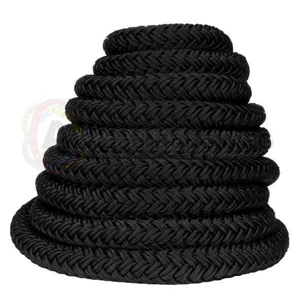 "1 1/2"" x 50ft Black Exercise Rope"