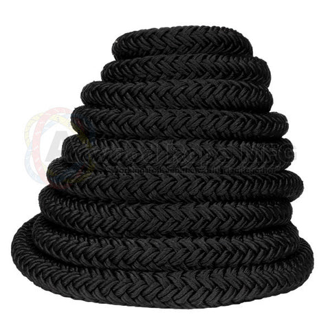"1 1/2"" x 50ft Black Exercise Rope - HEAVY"