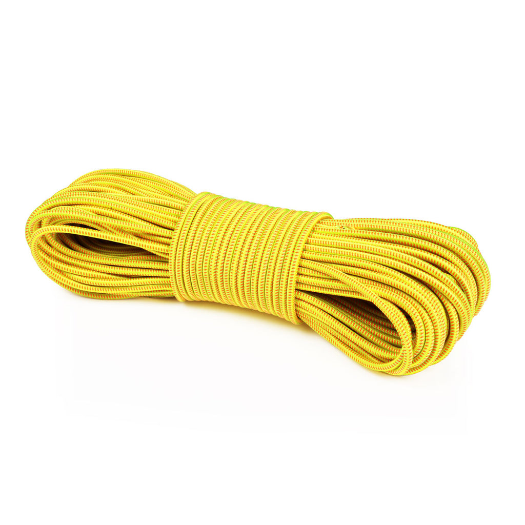 "1/8"" Bungee Shock Cord - Neon Yellow w/ Neon Stripes"