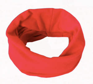 Cotton Circle Scarf - Red