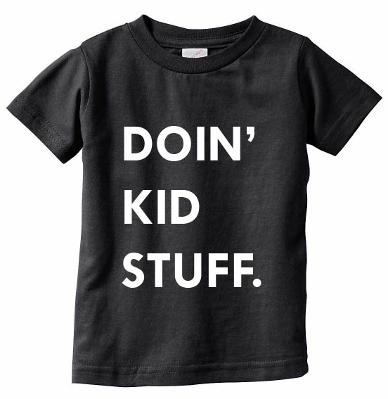 Doin' Kid Stuff Tee - Black