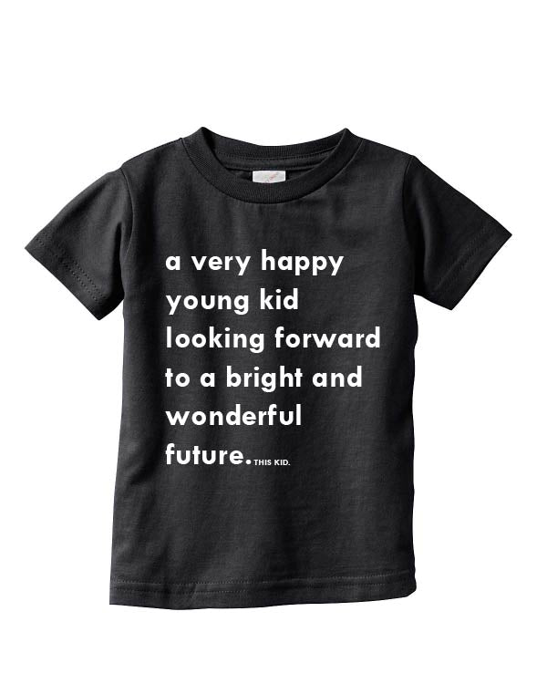 A Happy Young Kid Tee - Black