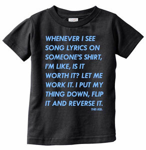 Lyrics T-shirt