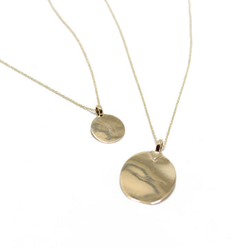 5 Octobre Gold Disc Necklaces