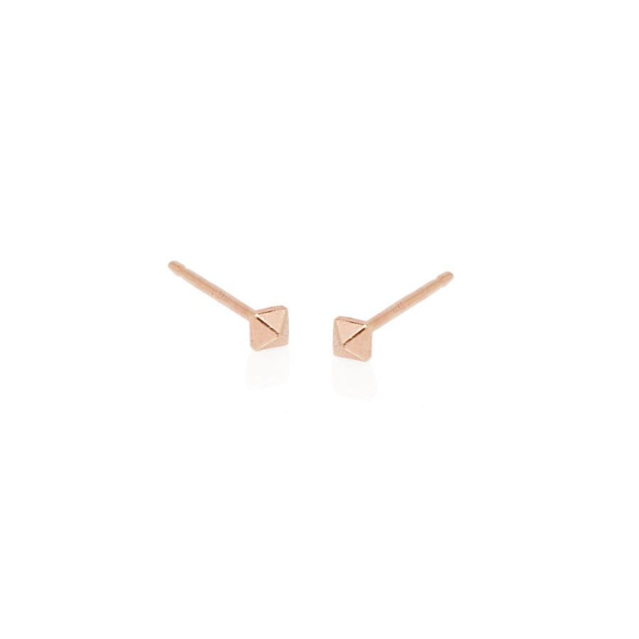 14k Tiny Gold Spike Single Earring