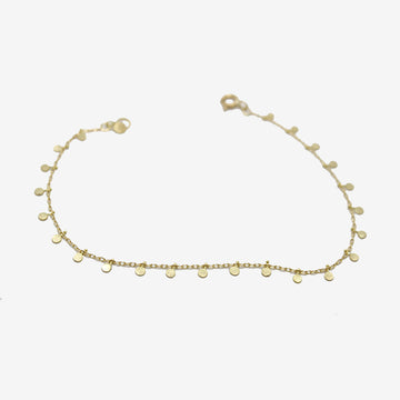 Sia Taylor 18k Gold Even Tiny Dots Bracelet