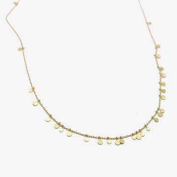 Sia Taylor 18k Gold Random Dots Necklace