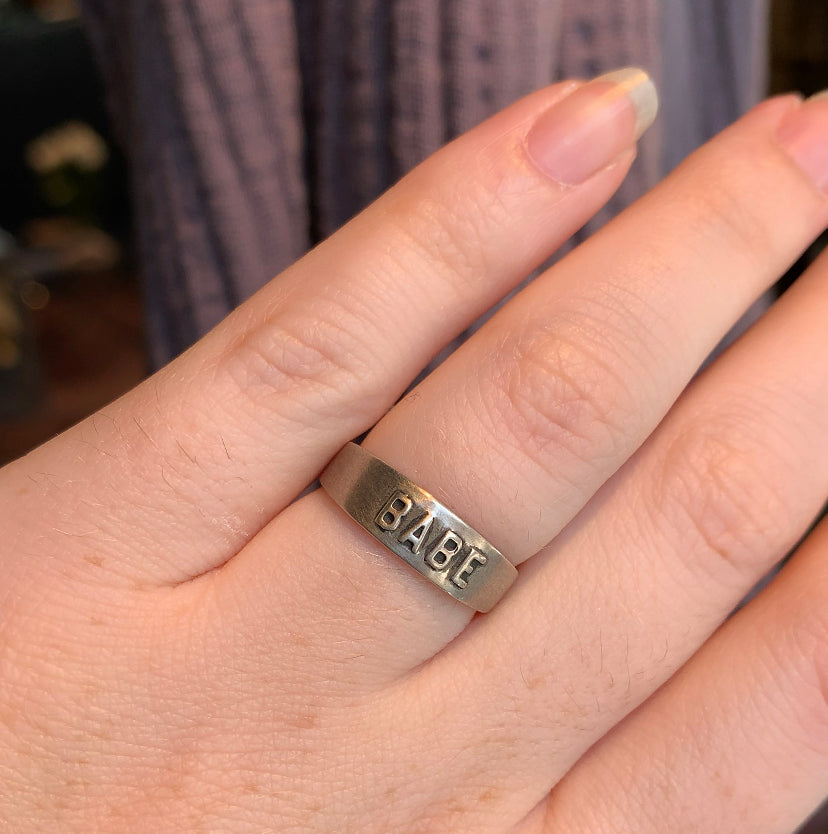 Workhorse Sterling Silver BABE Ring