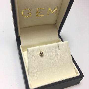 Gem Token 14k Gold Ball Single Earring