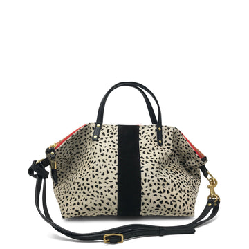 Kempton & Co Cheetah Print Devon Holdall