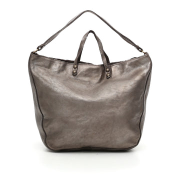 Campomaggi Silver Leather Handbag