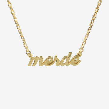 'Merde' Nameplate Necklace