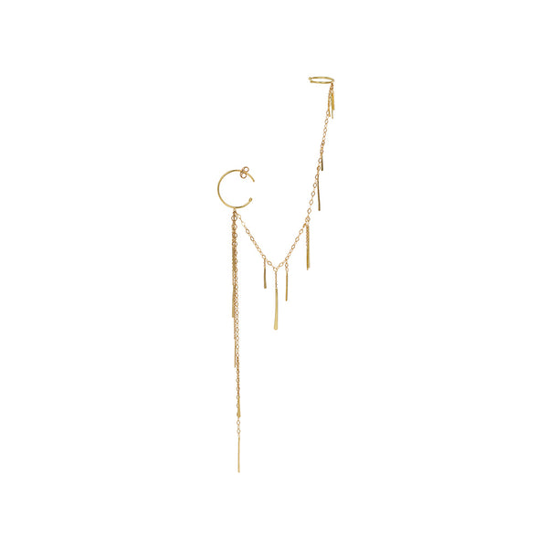 Sweet Pea 18k Hoop + Cuff Sycamore Single Earring