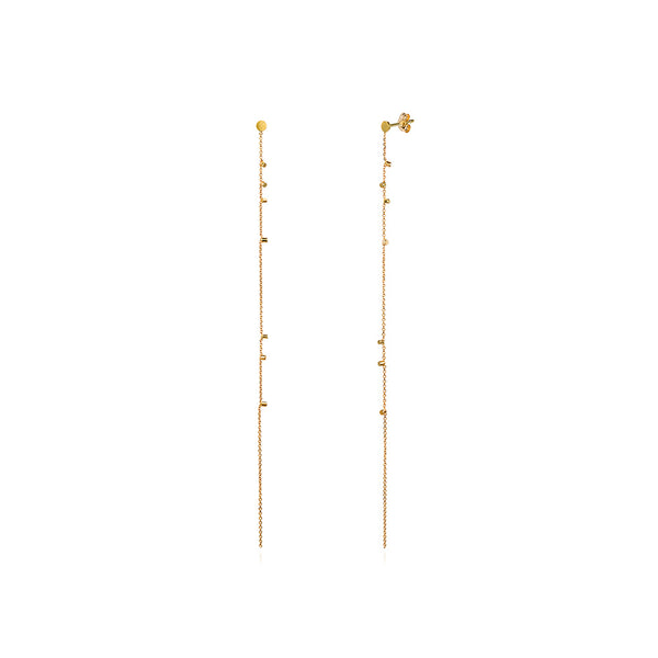 Sweet Pea 18k Gold Dust Long Strand Earring