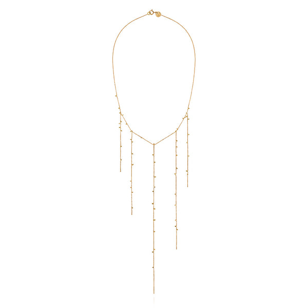 Sweet Pea 18k Five Strand Gold Dust Necklace