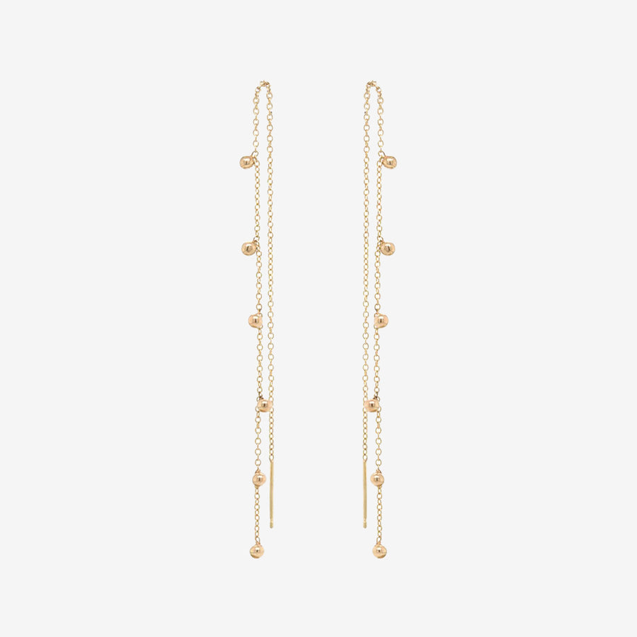 Zoe Chicco 14k Scattered Tiny Bead Threaders