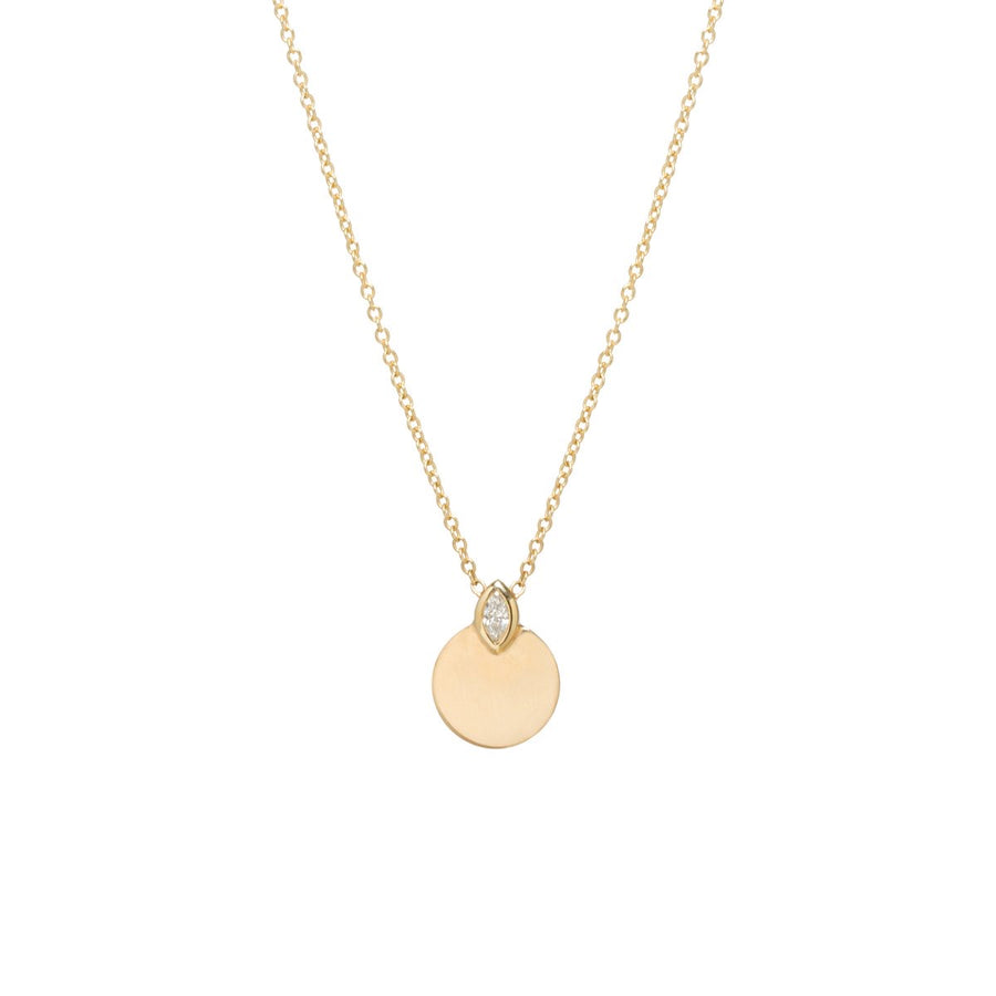 Zoe Chicco 14k Round Horizon + Diamond Necklace