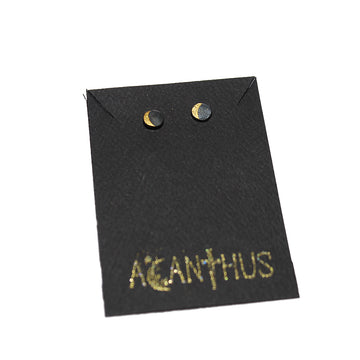 Acanthus Moon Phase Stud Earrings