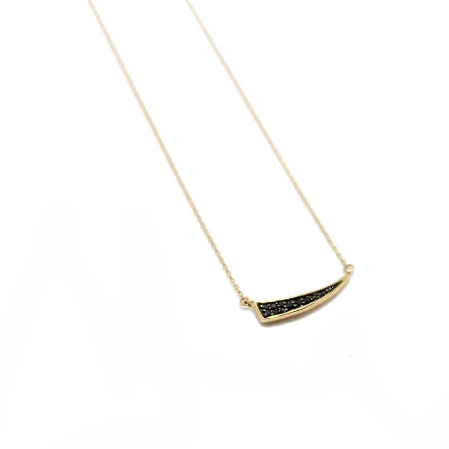 Black Diamond Tusk Necklace