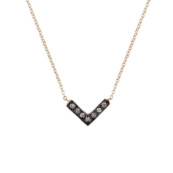 Aili Open Triangle Necklace