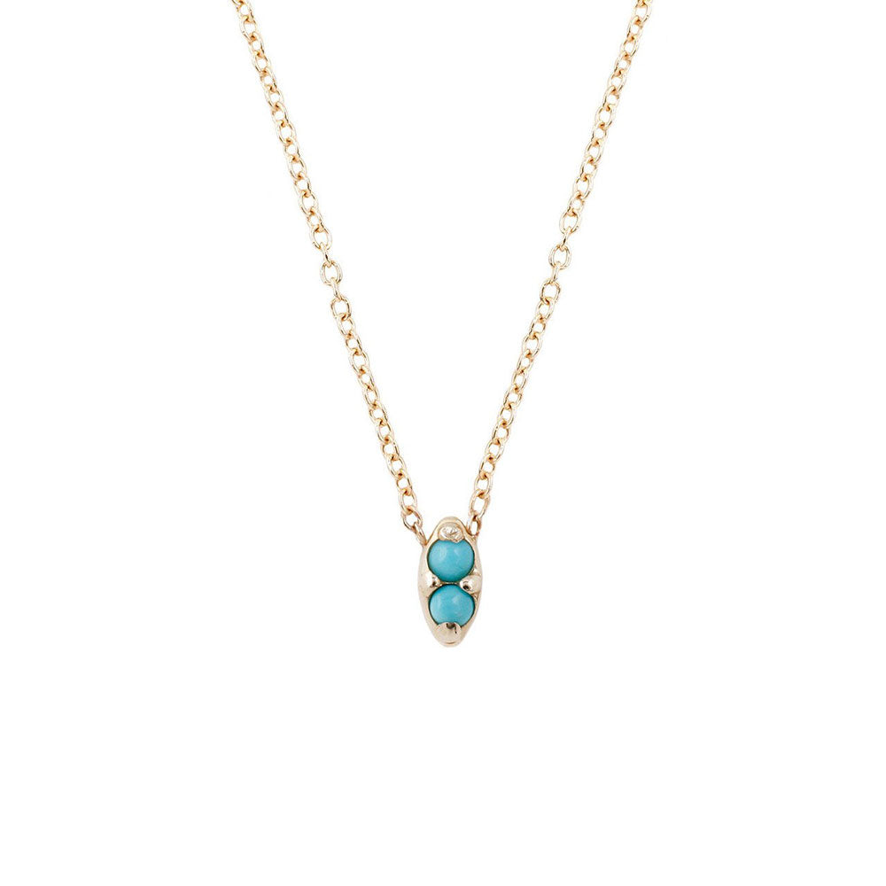 gem duet collections aili products necklace turquoise double jewelry tiny