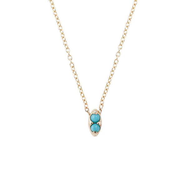 Aili Duet Turquoise Necklace