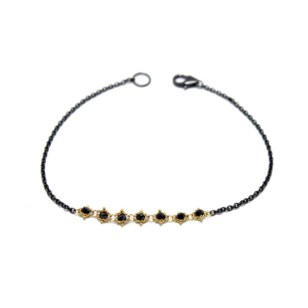 Amali Black Diamond Station Bracelet