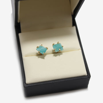 Variance Objects 14k Gold Amazonite Earrings