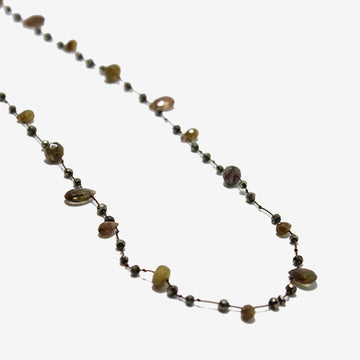 Roseanne Bode Andalusite & Pyrite & Brown Tourmaline Necklace