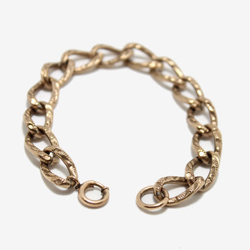 Antique Gold Fill English Curb Chain Bracelet