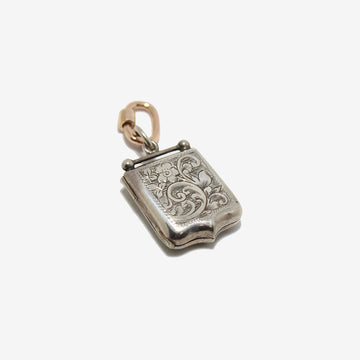 Antique Sterling Silver Engraved Locket