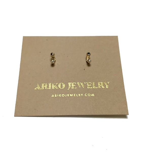 Ariko Black + White Diamond Earrings