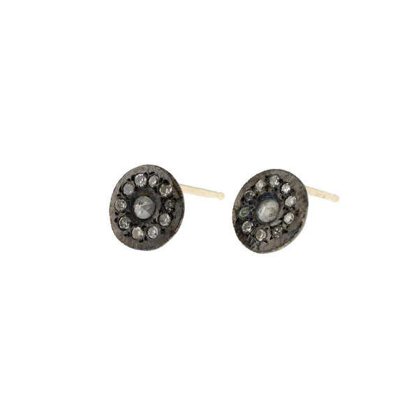 Ariko Diamond Disc Earrings