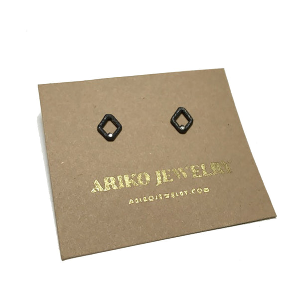 Ariko Oxidized Diamond Earrings