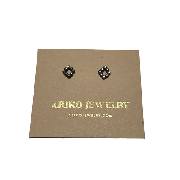 Ariko Diamond Square Earrings
