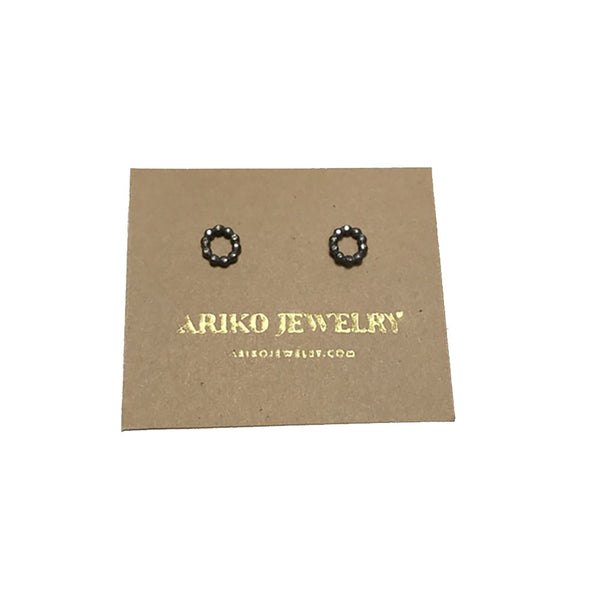 Ariko Diamond Circle Earrings