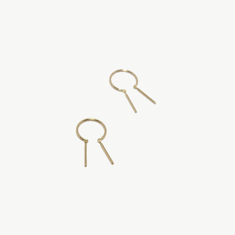 Jack & G 14k Gold Baby Chime Earrings