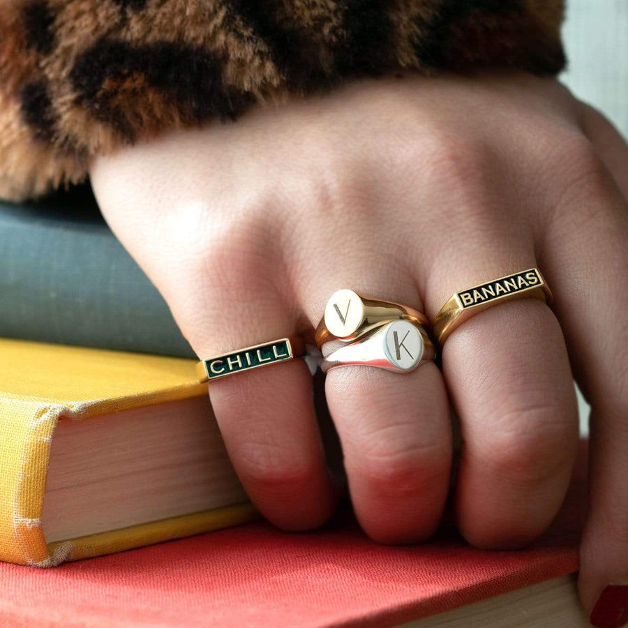 Enamel Bananas Ring