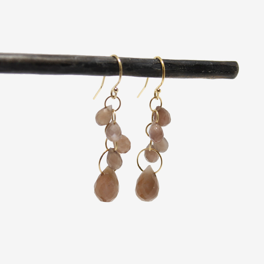 Lulu Designs Evelyn Peach Moonstone Earrings