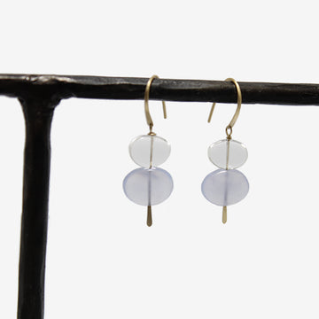 Carla Caruso 14k Double Pebble Drop Earrings