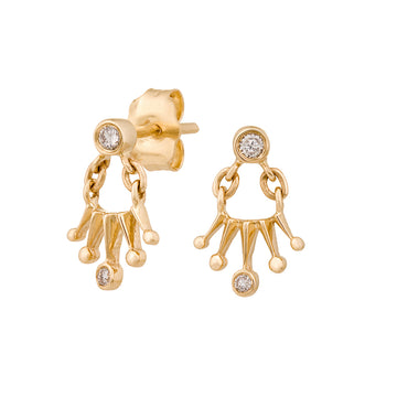 Celine Daoust Diamond Crown Earrings