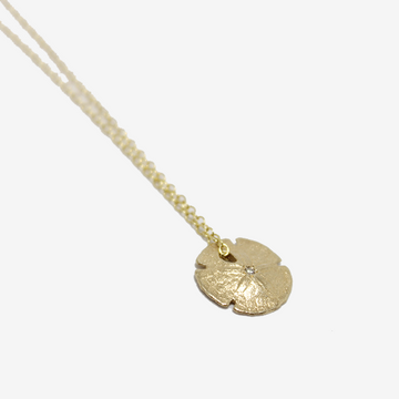 Elisabeth Bell Small Diamond Sand Dollar Necklace