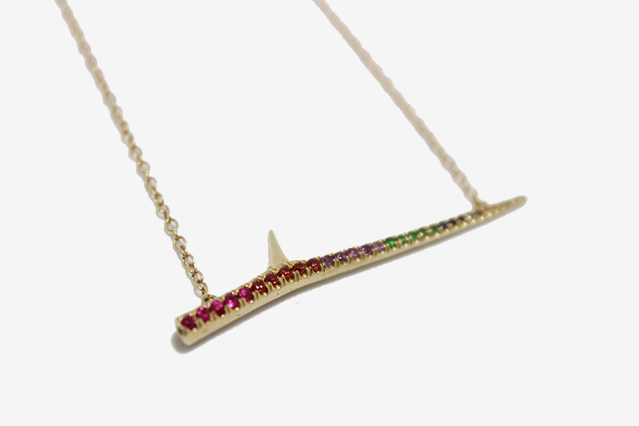 Elisabeth Bell Rainbow Thorn Necklace