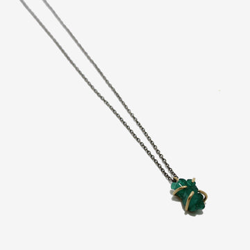 Emilie Shapiro Emerald Crystal Talisman Necklace