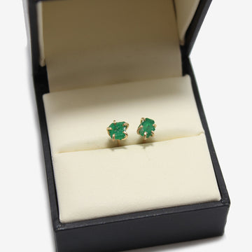 Variance Objects 14k Gold Emerald Earrings
